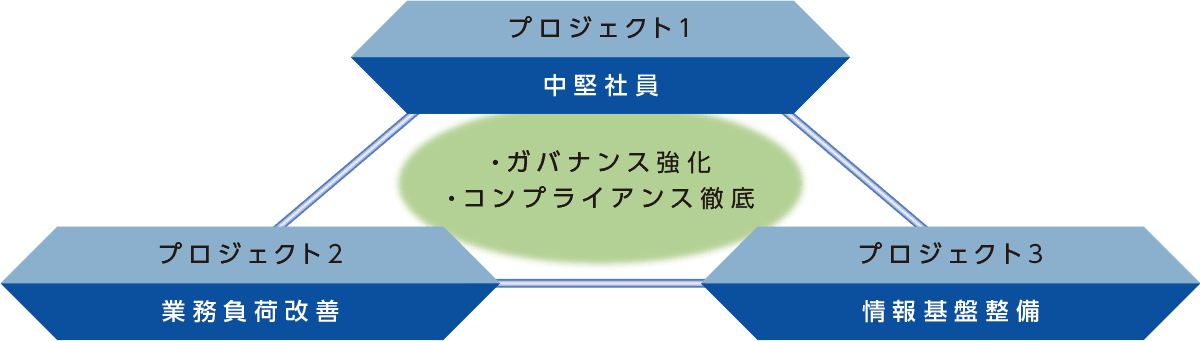 3つのプロジェクト 概略図